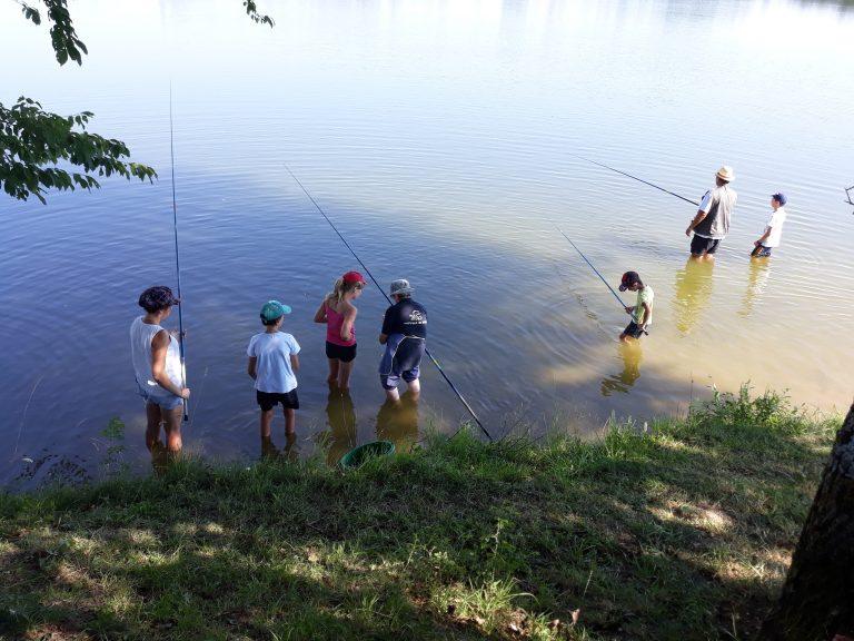 Sortie pêche avec le centre de loisirs