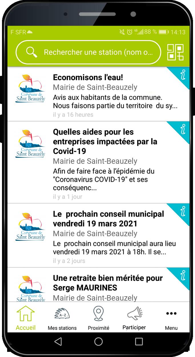 application illiwap Saint-Beauzély