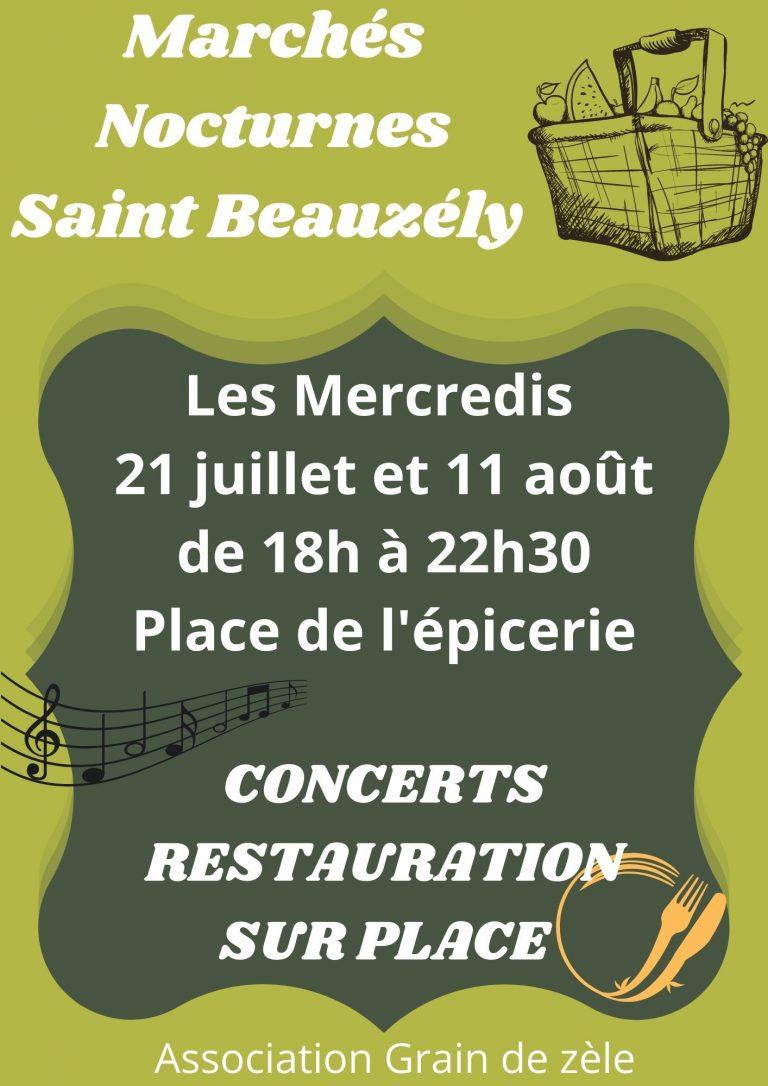 Marchés Nocturnes Saint Beauzély